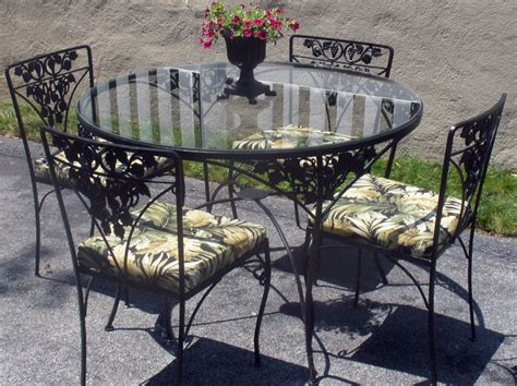 Vintage Patio Table Metal Patio Chairs And Table Modern Patio Outdoor