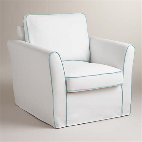 white and blue luxe chair slipcover chair slipcovers