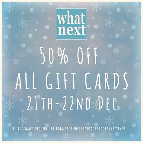Where To Buy Next Gift Cards - 50 off gift cards at what next what next