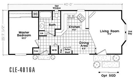 Section Manufactured Homes by Floor Plan Cle 7018a Cle Single Section Durango Homes
