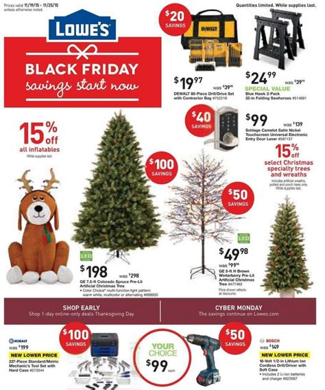 lowe s pre black friday sale ad 11 19 11 25 shopportunist