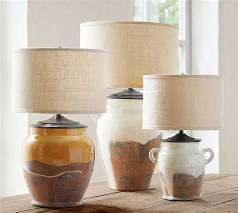Saratoga Rustic Pottery Table Lamp Base Pottery Barn