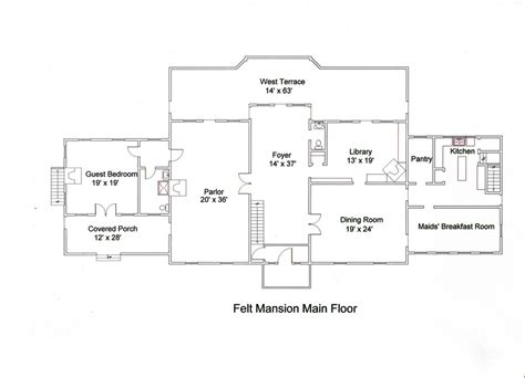 mansion floor plans with dimensions the felt estate celebrations weddings corporate events