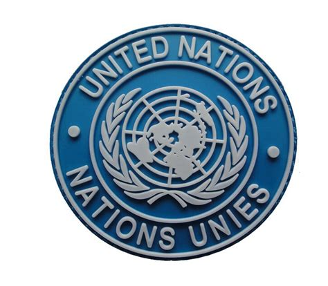 Rubber Patch Un United Nations un united nations u n badge pvc tactical army patch 3d