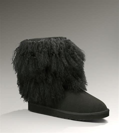 ugg sheepskin cuff boot black