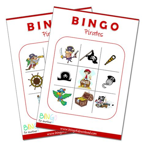 Pirate Bingo Cards Printables