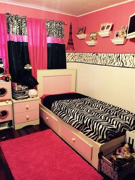 year  daughters  tween pink  zebra room