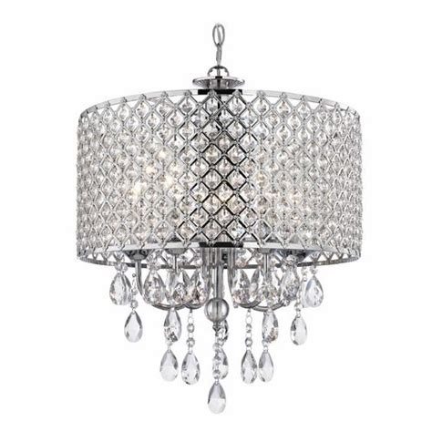chrome chandelier pendant light with