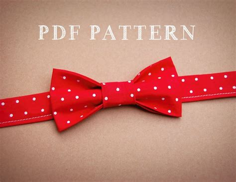 sewing pattern for stock tie boy and toddler bow tie pdf sewing pattern and instructions