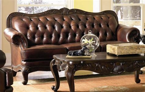 victoria leather sofa buy couch springs sagging how many pillows on a