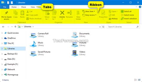 windows 10 file explorer tutorial hide or show file explorer ribbon in windows 10 windows 10