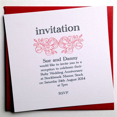 Custom Wedding Anniversary Invitations