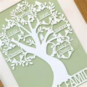 Paper Cut Family Tree Template by A4 Papercut Area Unframed Family Tree With Family Name
