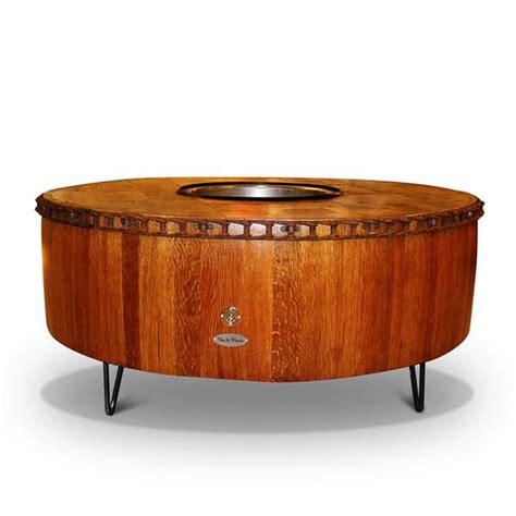 wine barrel pit table moderna wine barrel pit table