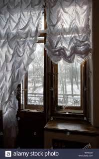 russian curtains quot russian interior quot view through ruched curtains and