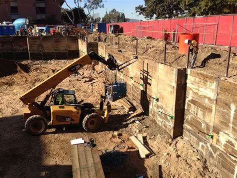 shoring and excavation continues building wallis annenberg