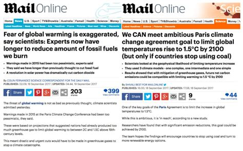 section 37 report social services daily mail writes two articles on same climate study with
