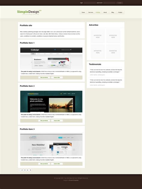 xhtml layout template simpledesign xhtml template personal css templates