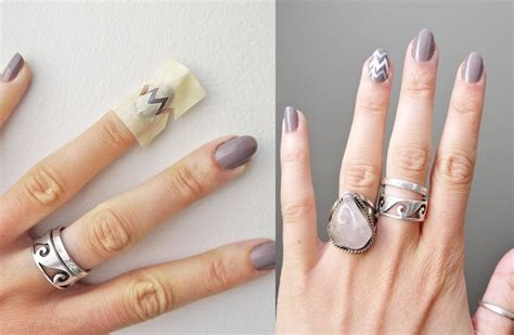Nail With Nail Only by Nail Designs You Can Do Only Using A Scotch