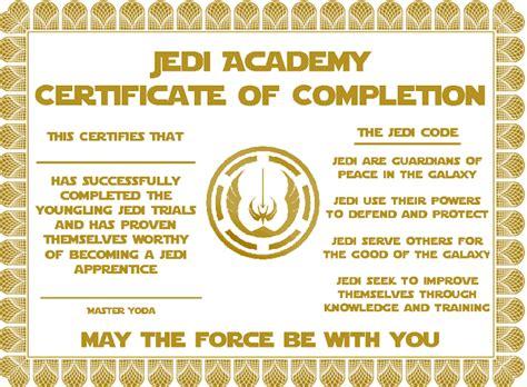free printable star wars jedi certificates star wars party jedi academy certificate star wars