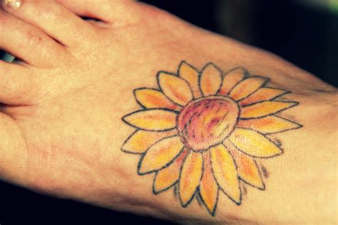 sunflower wrist tattoos sunflower tattoos designs ideas and meaning tattoos for you