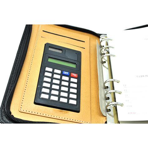 Buku Catatan Binder Transparan buku catatan unik dengan kalkulator didalamnya harga jual