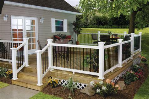 Veranda Railing Designs by Low Maintenance Vinyl Aluminum Deck Railing