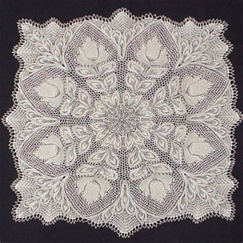 knitting patterns for tablecloths lyra square tablecloth in knitted lace by herbert