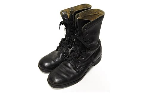 black leather combat boots air mobility command museum