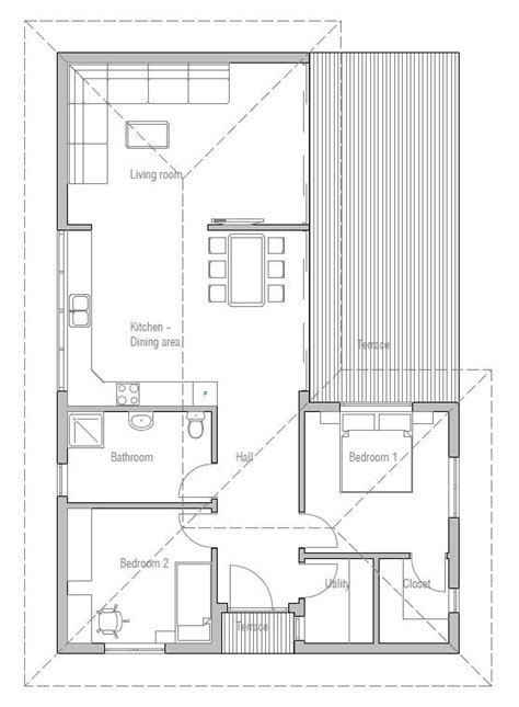 narrow sloping lot house plans single level living small house plan to narrow lot with two bedrooms open