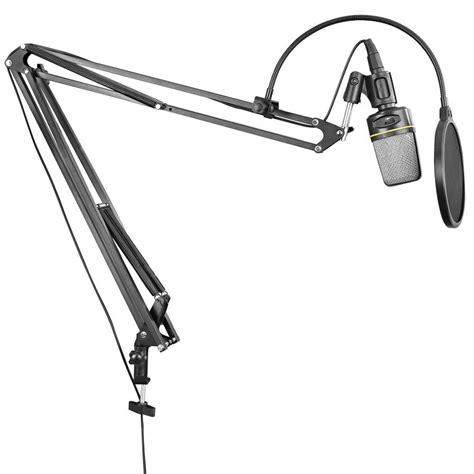 Microphone Suspension Boom Scissor Arm With 2 X Smartphone Lazypod neewer nb 39 adjustable microphone suspension boom scissor arm stand with clip cl