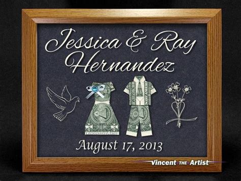 Money Origami And Groom - beautiful wedding sign made of money dollar origami