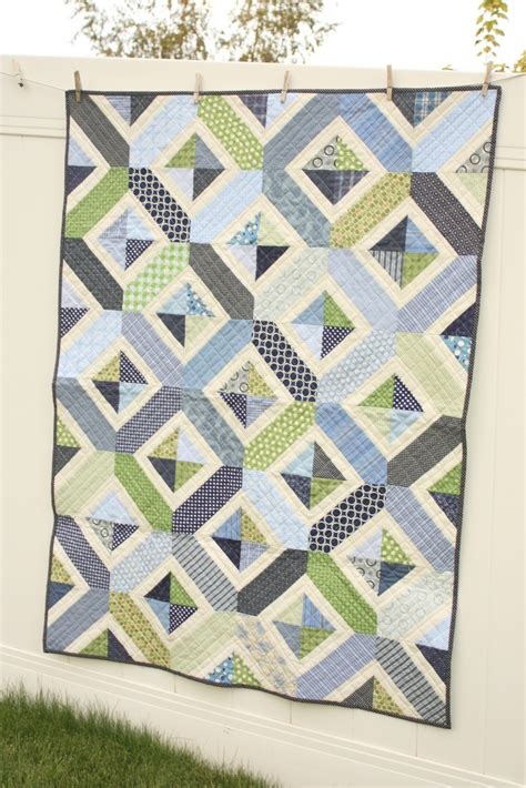 Crib Quilts Patterns by Navy And Green Crib Quilt Pattern Diary Of A Quilter A Quilt