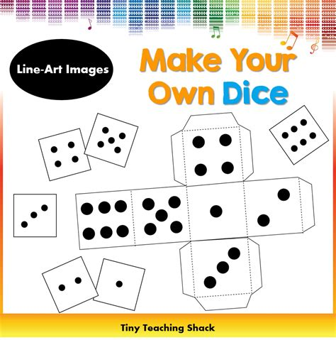 Dice Template Make Your Own Dice Clipart For Teachers Pinterest Dice Template Clip Art Make Your Own Dice Template