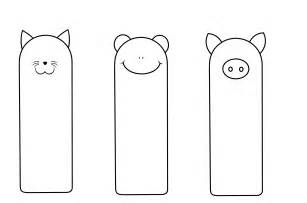 Free bookmark templates for kids bookmarks templates piggy
