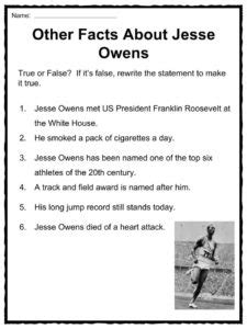 hitler biography worksheet jesse owens facts worksheets accomplishments biography