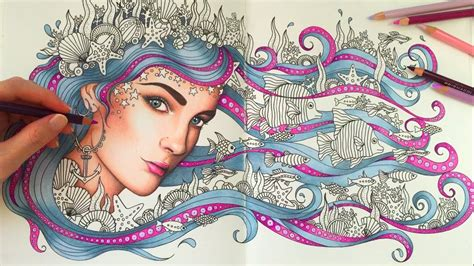 hair dreams coloring book for adults books how i color hair princess octopus daydreams coloring