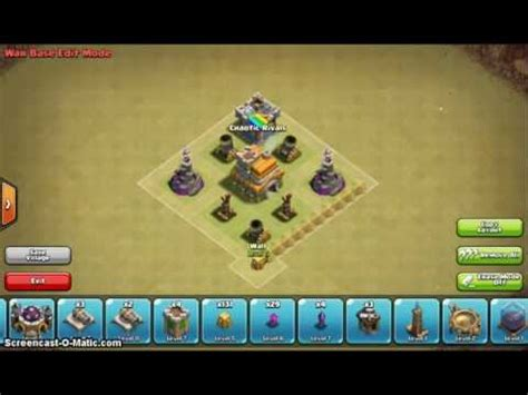 Clash of clans th7 war base without barbarian king