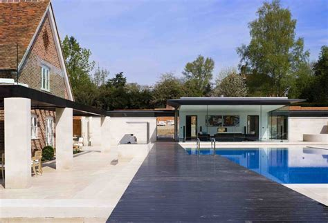 Build Pool House hampshire poolhouse building glass pool house e architect
