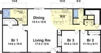 3 Bedroom 2 Bath Ranch Floor Plans by Ashley By Simplex Modular Homes Ranch Floorplan