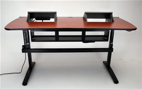 Rackmount Desk by Pc Ergo Transform Console Desk Height Adjustable With Rack Mount