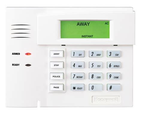 honeywell 6151 fixed alarm keypad with