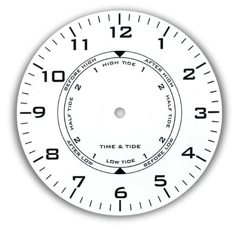 printable tide clock dial dials for clocks thermometers and tide movements