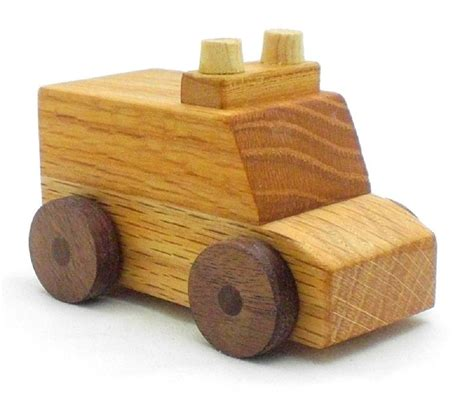 Wooden Toys Handmade - ambulance wooden play handmade in the usa by happy