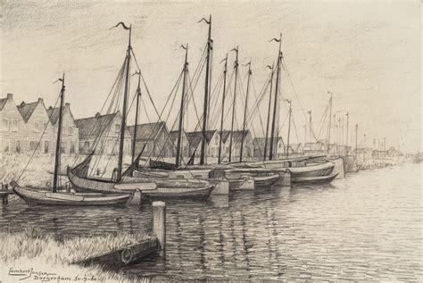 scheepvaart museum enkhuizen lambert jansen krijttekening gezicht op de haven van