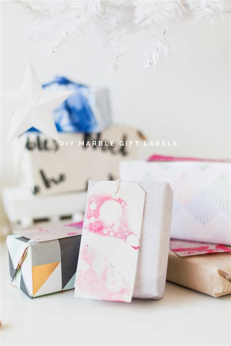12 shades of day two diy marble gift labels