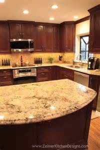 Granite Countertops With Cherry Cabinets Cherry Cabinets With Granite Counters Kitchen Plans