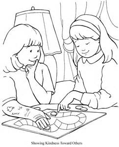 kindness coloring pages showing kindness toward others