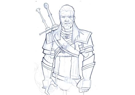 Witcher 3 Sketches by The Witcher 3 Sketch By Daviseveriano On Deviantart