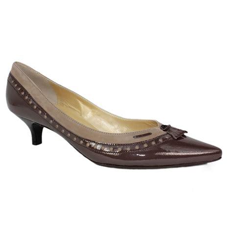kittens shoes kaiser dwina kitten heel shoe brown patent
